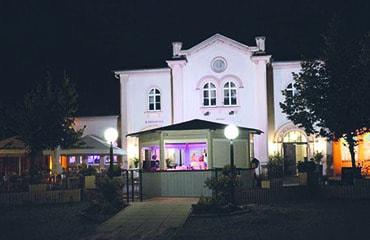 Im historischen Wilhemsbader Bahnhofsgebäude mit schönem Biergarten befindet sich dieses Restaurant