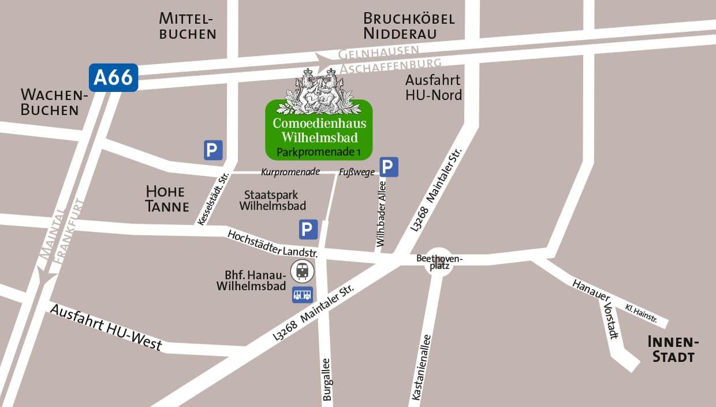 anfahrt parken comoedienhaus wilhelmsbad. Black Bedroom Furniture Sets. Home Design Ideas