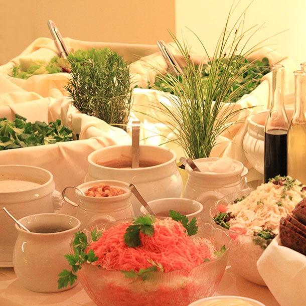 Rustikales Catering mit hessichen Spezialitäten
