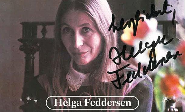 Comoedienhaus Wilhelmsbad Helga Feddersen Postkarte mit Unterschrift zu Ihrem Auftritt in Hanau