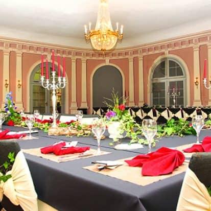 Comoedienhaus Wilhelmsbad Kleiner Arkadensaal mit Bankettbestuhlung