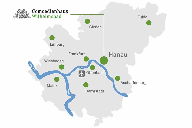 Lageplan Comoedienhaus Wilhelmsbad