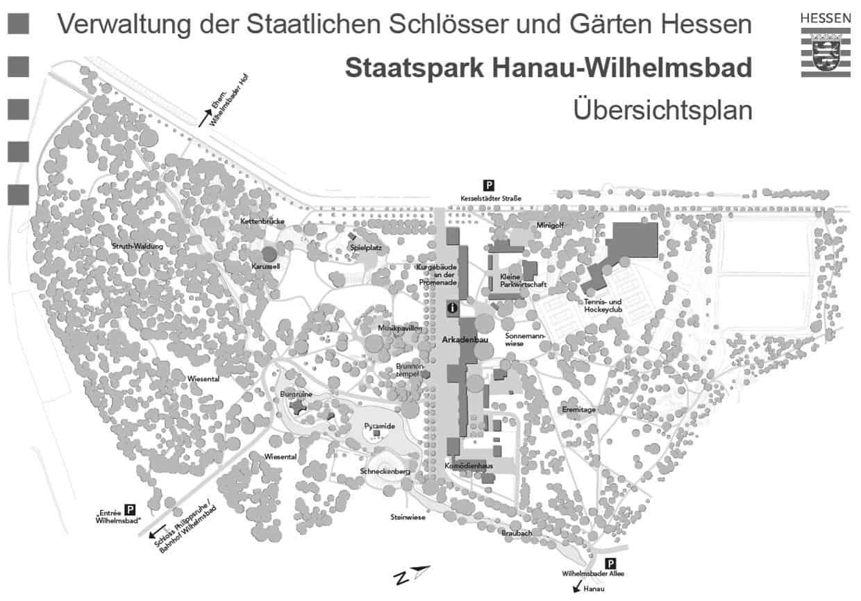 Comoedienhaus Wilhelmsbad Staatspark Hanau Übersichtsplan