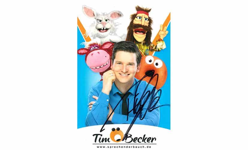 Tim Becker, Postkarte und Unterschrift