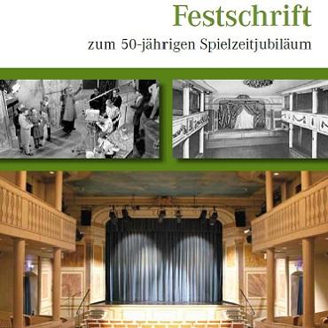 Titelbild der Festschrift zum 50-jährigen Spielzeitjubliämum