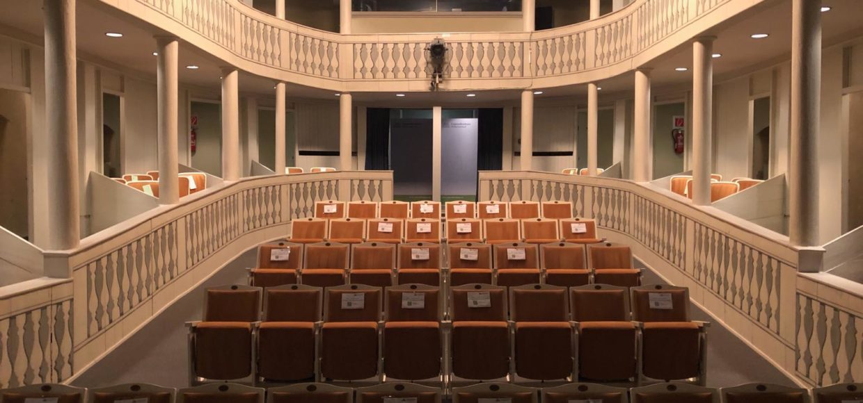 Theatersaal Comoedienhaus mit reduzierten Sitzplätzen